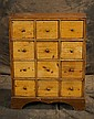 19th c Apothecary 12 drawer cabinet