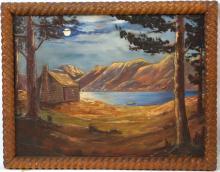 Calif. Folk Art painting - by Death Valley Cowboy