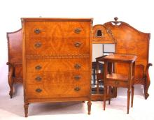 French style bedroom set - twin bed set