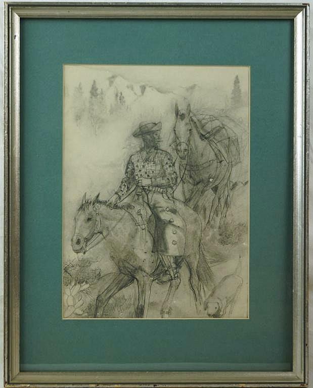 Hernando Gonzallo Villa (1881 - 1952)  Drawing