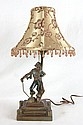 Deco Bronzed Pirate lamp with silk shade