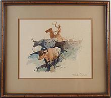 Nicholas Firfires (1917 - 1990) watercolor