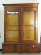 19th cent. Walnut Library bookcase