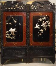 Qing Dynasty Hardstone 2 panel screen circa 1880