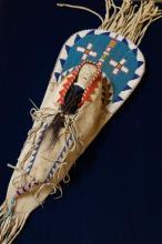 Plains Indian child's cradle board