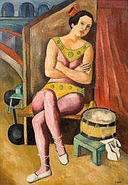 LAGAR, Celso (1891-1966) Jeune acrobate Huile sur