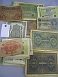 A collection of antique German CURRENCY AND