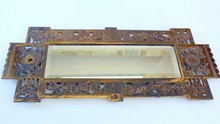 Brass B&H antique mirror/bevelled