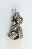 Sterling poodle dog pendant