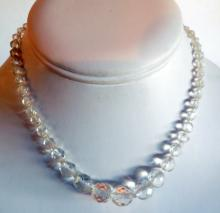 Vintage crystal cut Czeck bead necklace