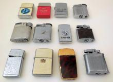 Vintage lighters -Zippo, Ronson -advertising