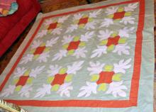 Antique Quilt Handmade Oak Leaf