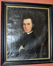 Oil/canvas /1800's Gardiner portrait/John Gardiner of Boston
