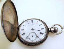 Waltham silver hunter vintage pocket watch