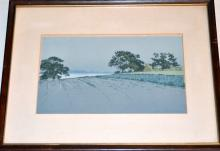 Antique lithograph signed /hand colored