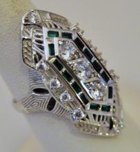 Sterling cocktail ring/vintage design