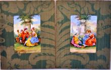 Antique porcelain plaques /French /hand painted