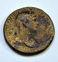 Ancient bronze roman coin