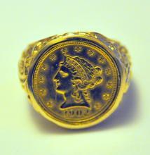 14k ring/$2  1/2 coin ring