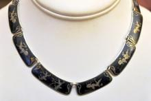 Sterling Siam vintage necklace
