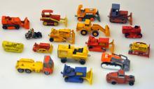 Vintage toy tractors/shovels