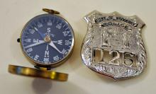 Police badge/Woodbury- compass