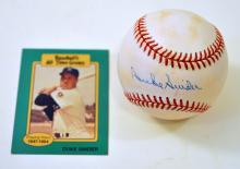 Duke Snider signed baseball and card