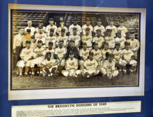 Brooklyn Dodgers 3 D  /1949 photo framed