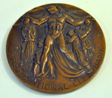 Bronze bank medallion/ 1962