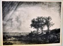 Rembrandt landscape photogravure/Dutch