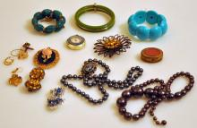 Costume vintage jewelry collection