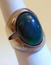 Sterling gemstone vintage ring