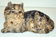Antique Hubley doorstop cat/Fireside Cat/#335