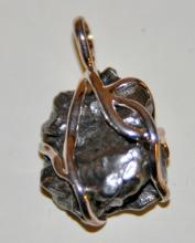 Sterling meteorite Russian pendant