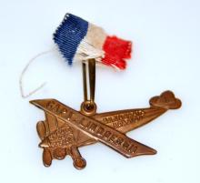 Lindbergh airplane vintage pin