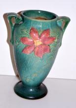 Vintage Roseville vase/Clematis