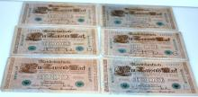 Reichsbanknotes/1000 marks green label