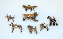 Silver dog charms/poodle, schnauzer +