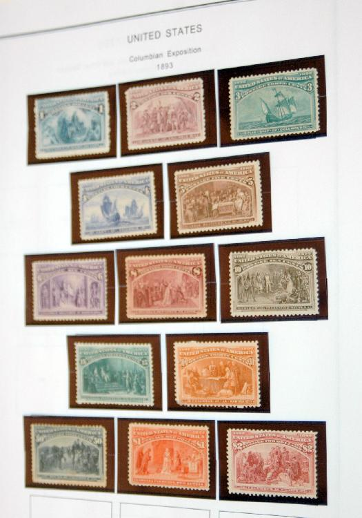 US Columbian Exposition stamps/1893
