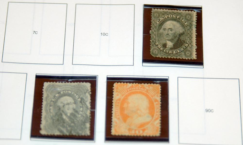 US stamps/1870-71