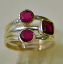 Sterling ruby ring custom design