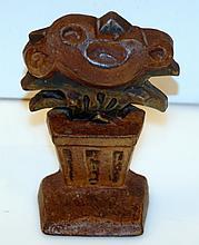 Doorstop Hubley Flower Antique Iron