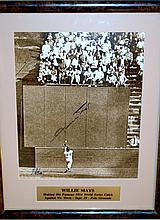 Willie Mays signed photo certified