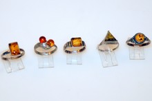 Vintage Sterling amber rings