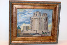 Hayley Lever painting 1932 Mt. Vernon, NY Electric Co. Bldg.