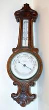 Oak barometer/ aneroid Husbands -Bristol
