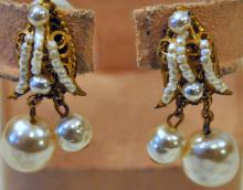 Signed Haskell earrings double drop