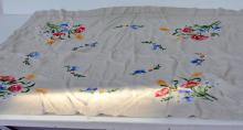Old embroidered table cloth