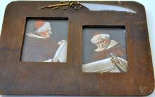 Image framed vintage/cardinal reading