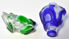 Peking glass vintage snuff bottles